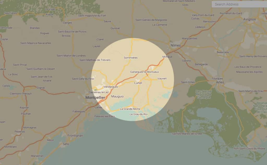 zone d'intervention d'arbo'tannique 34000